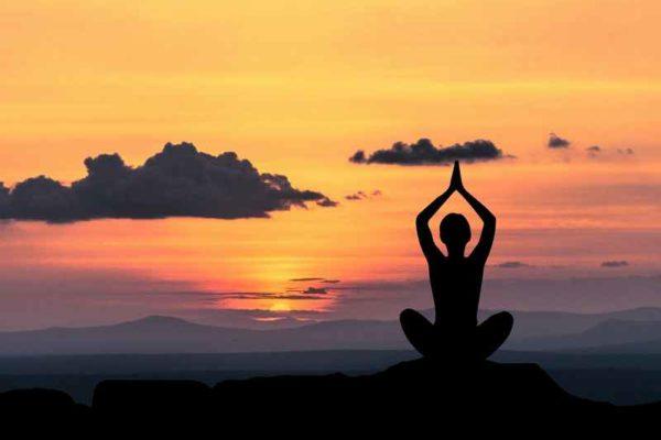 A person meditating