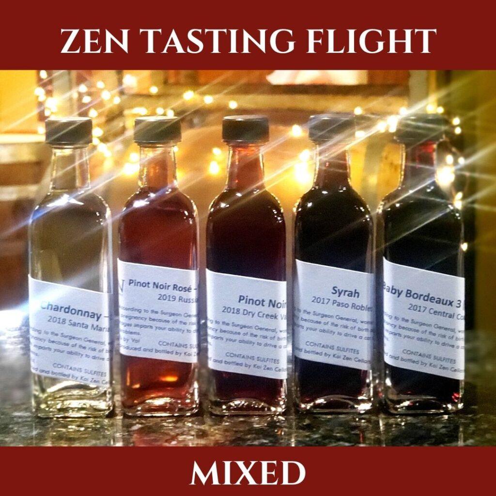 Mixed Zen Wine Flights